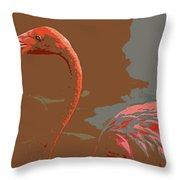 Flaming Flamingo-d  Throw Pillow