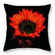 Flaming Flower Throw Pillow