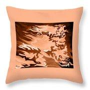 Flaming Horse   -023 Throw Pillow