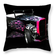 Flaming Hot Roadster  Throw Pillow