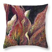 Flaming Leaves Throw Pillow