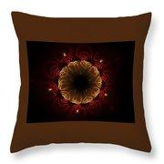 Flaming Night Flower Throw Pillow