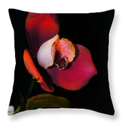 Flaming Orchid Throw Pillow