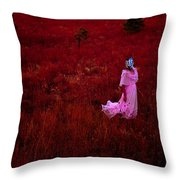 Flaming Pink Throw Pillow