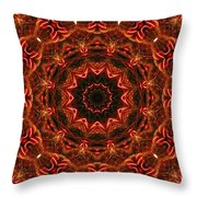 Flaming Ribbons And Trumpets Throw Pillow