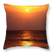 Flaming Sunrise Throw Pillow