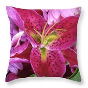 Flaming Tiger Lily Throw Pillow