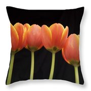 Flaming Tulips Throw Pillow