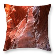 Flaming Walls Of Sandstone Throw Pillow