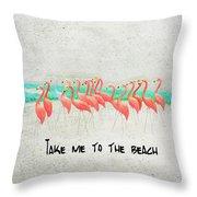 Flamingo Art II Throw Pillow