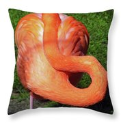 Flamingo Asleep Throw Pillow