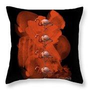 Flamingo Balance - 1 Throw Pillow