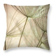 Flamingo Dandelions Throw Pillow