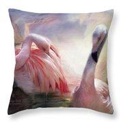 Flamingo Dawn Throw Pillow