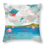 Flamingo Dream Throw Pillow