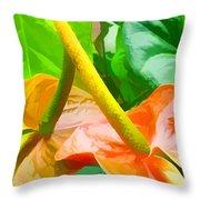 Flamingo Flower Throw Pillow