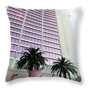 Flamingo Hotel Neon Sign Las Vegas Throw Pillow