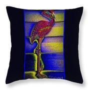 Flamingo IIi Throw Pillow