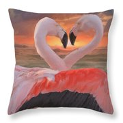 Flamingo Love Throw Pillow