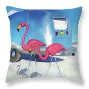 Flamingo Migration Throw Pillow