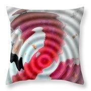 Flamingo On Ripple Water Throw Pillow