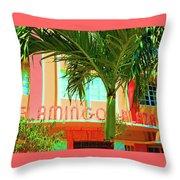 Flamingo Plaza Throw Pillow