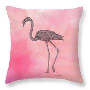 Flamingo3 Throw Pillow