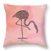 Flamingo4 Throw Pillow