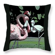 Flamingos II Throw Pillow