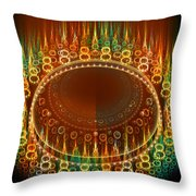 Flamy Round  Throw Pillow