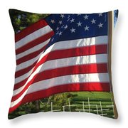 Flanders Field Installation  2 Crosses Poppies Casa Grande Arizona 2004 Throw Pillow