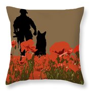 Flanders Fields 11 Throw Pillow
