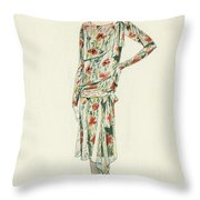 Flapper In An Afternoon Dress Throw Pillow