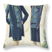 Flappers In Frocks And Coats, 1928  Throw Pillow