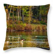 Flapping For Fall Throw Pillow