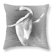 Flapping In Black And White Throw Pillow