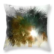 Flared Textured Palm Throw Pillow