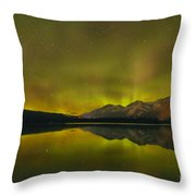 Flaring Northern Lights Throw Pillow
