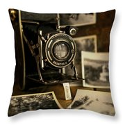 Flash From The Past Throw Pillow
