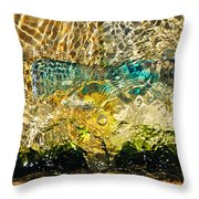Flash Of Emerald Throw Pillow