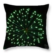 Flash Of Green Throw Pillow