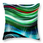 Flashes In Memory. Spring Throw Pillow