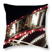 Flashing Lights Throw Pillow