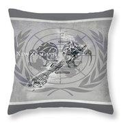Flat Earth Flag Throw Pillow