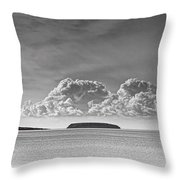 Flat Holm And Steep Holm Mono Throw Pillow