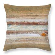 Flat Map Of Jupiter Throw Pillow