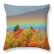 Flat Rainbow Throw Pillow