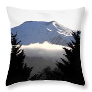 Flat Top Floating Through The Trees Throw Pillow