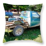 Flatbed Truck Throw Pillow