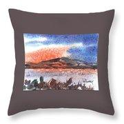 Flathead Lake Montana Throw Pillow